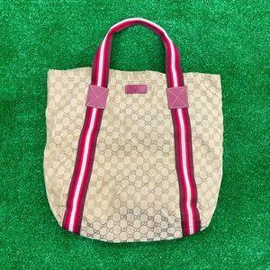 GUCCI monogram gg shopping bag